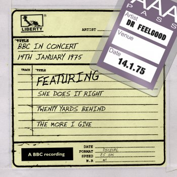 Testi Dr Feelgood - BBC In Concert (14th January 1975)