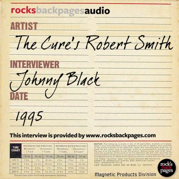 Testi The Cure's Robert Smith Interviewed by Johnny Black