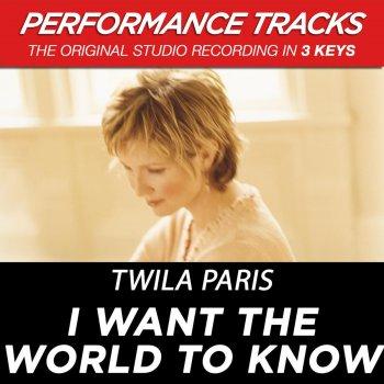 Testi I Want the World to Know (Performance Tracks)