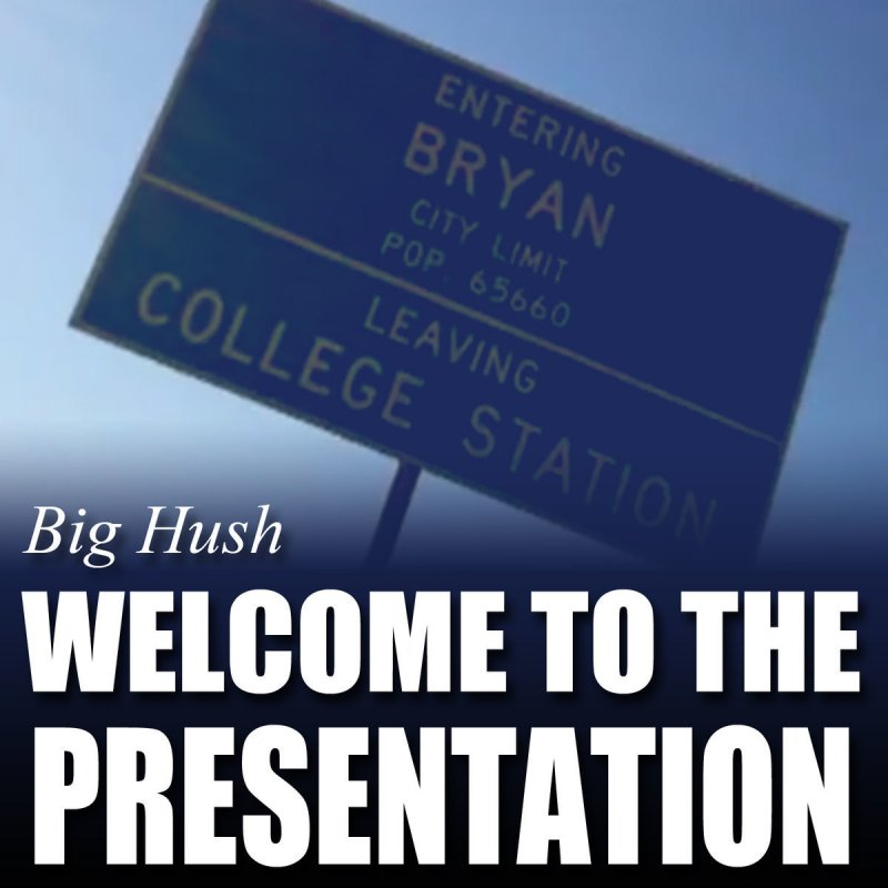 Welcome to the presentation (remastered) single by big hush on.