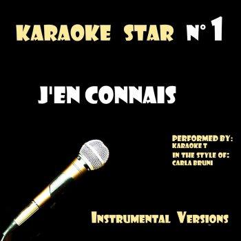 Testi J'en connais (In the Style of Carla Bruni) [Karaoke Versions]