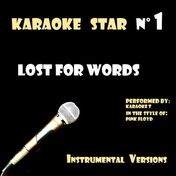 Testi Lost for Words (in the style of Pink Floyd) [Karaoké Versions]