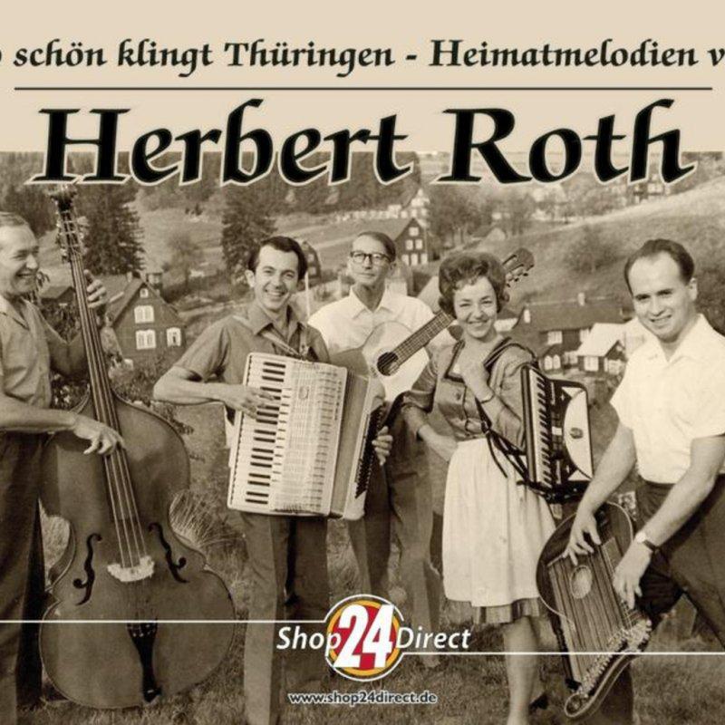 Herbert Roth Mit Seiner Instrumentalgruppe Wanderlust Mit Rucksack Hut Und Wanderstock
