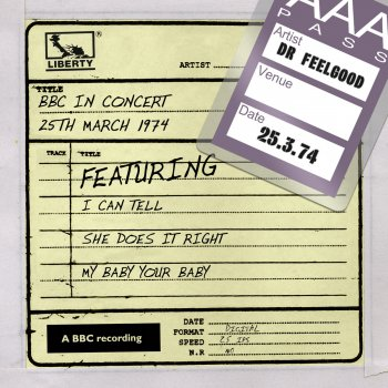 Testi Dr Feelgood - BBC In Concert (25th March 1974)