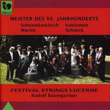Testi Shostakovich, Kokkonen, Martin, Schoeck: Meister des XX. Jahrhunderts