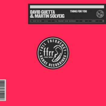 Thing For You by David Guetta feat. Martin Solveig - cover art
