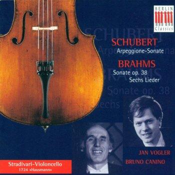 Testi SCHUBERT, F.: Arpeggione Sonata / BRAHMS, J.: Cello Sonata No. 1 / Lieder (arr. for cello and piano) (Vogler, Canino)