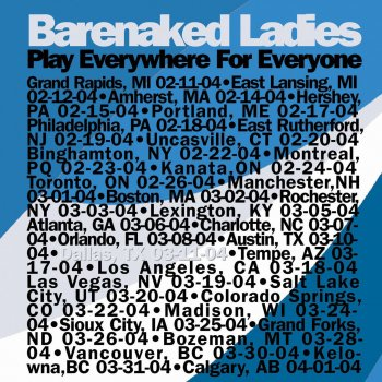 barenaked ladies one week live 3 11 04 dallas lyrics musixmatch. Black Bedroom Furniture Sets. Home Design Ideas