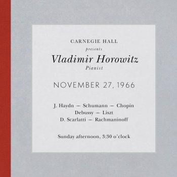 Testi Vladimir Horowitz - Live at Carnegie Hall - Recital November 27, 1966