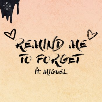 Remind Me to Forget lyrics – album cover
