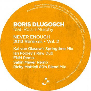 Never Enough (Feat  Roisin Murphy) - Ricky Mattioli 80's Blend Mix