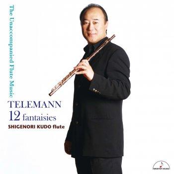 Testi TELEMANN : 12 fantaisies The Unaccompanied Flute Music