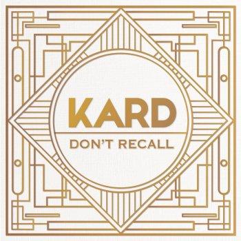 Testi K.A.R.D Project, Vol. 2 - Don't Recall (Hidden Ver.)
