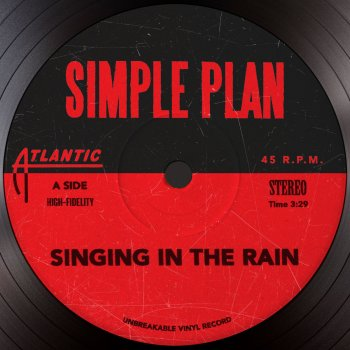 singing in the rain cover art - Simple Plan Christmas Song