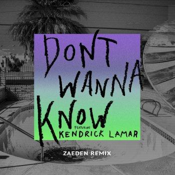 Testi Don't Wanna Know [Zaeden Remix]
