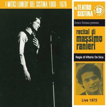 Testi Recital di Massimo Ranieri (I lunedì del sistina - live 1972)