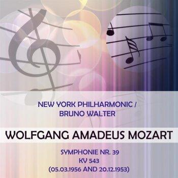 Testi New York Philharmonic / Bruno Walter play: Wolfgang Amadeus Mozart: Symphonie Nr. 39, KV 543 (05.03.1956 and 20.12.1953)