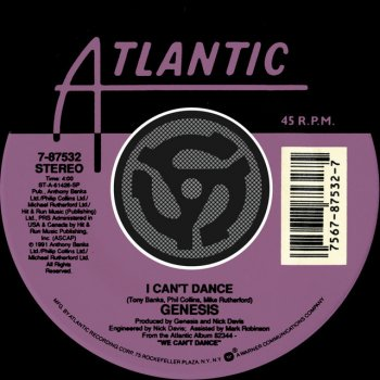 Testi I Can't Dance / On The Shoreline